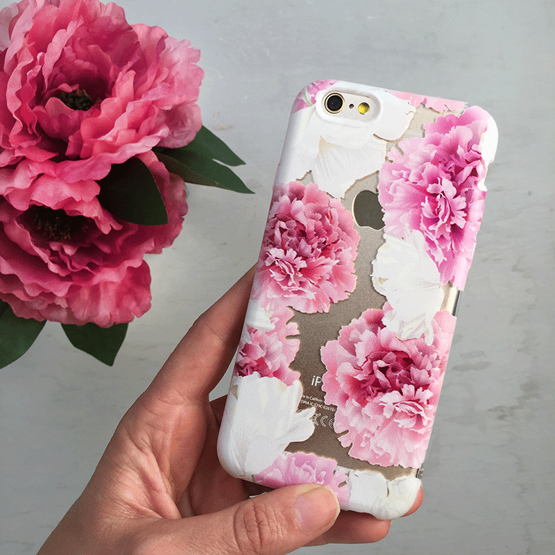 Pink Peony Flowers iPhone Case
