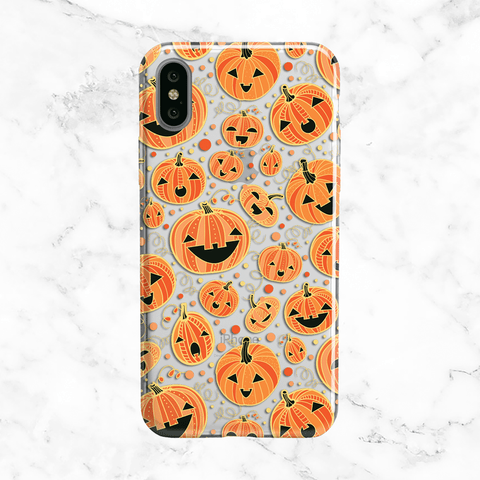 Halloween Pumpkins iPhone X Case