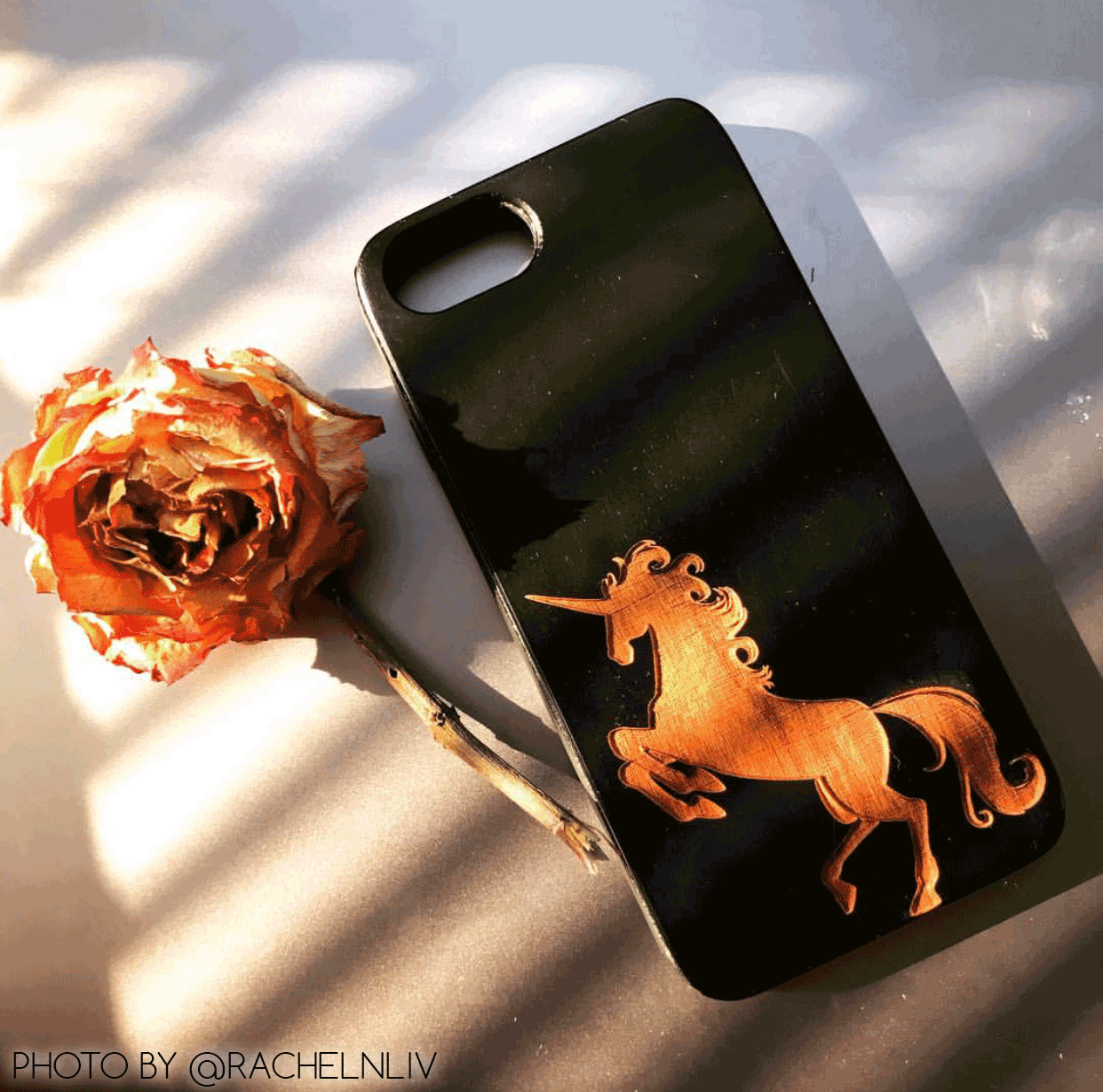Magical Unicorn Wood Phone Case for iPhone and Galaxy