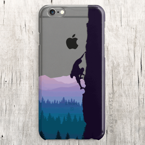 Rock Climber Clear iPhone and Galaxy Phone Case