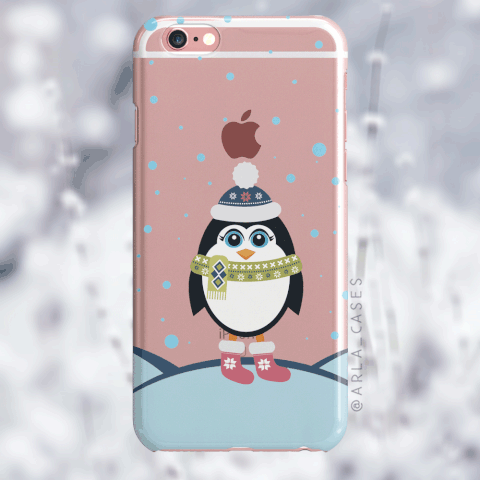 Penguin iPhone and Galaxy Phone Case