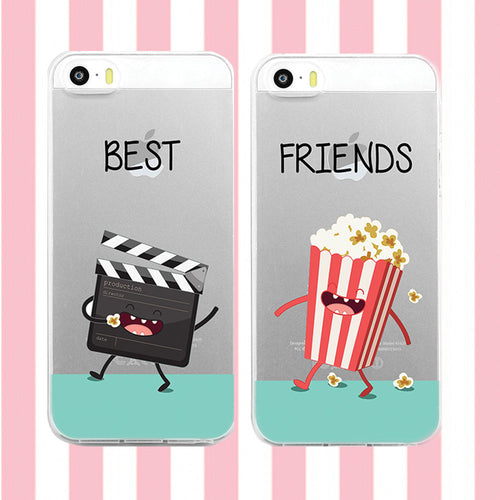 Best Friends Phone Case Set- Movies and Popcorn