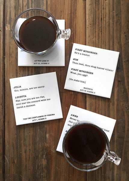 Shakespeare Coasters