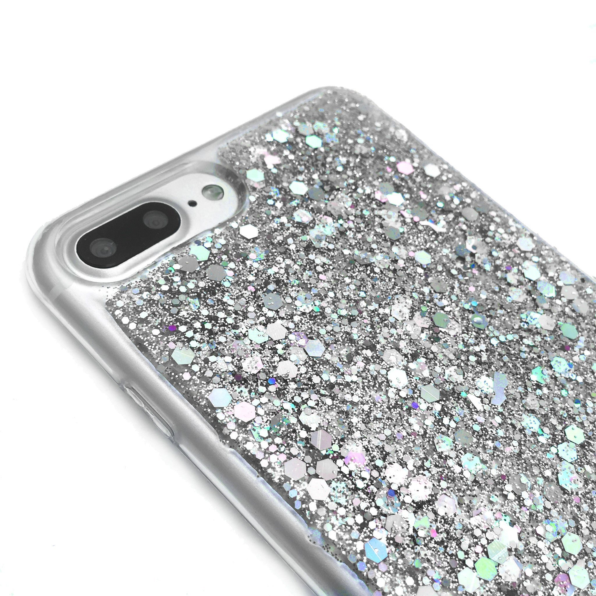 Best Day Ever! Silver Glitter Phone Case
