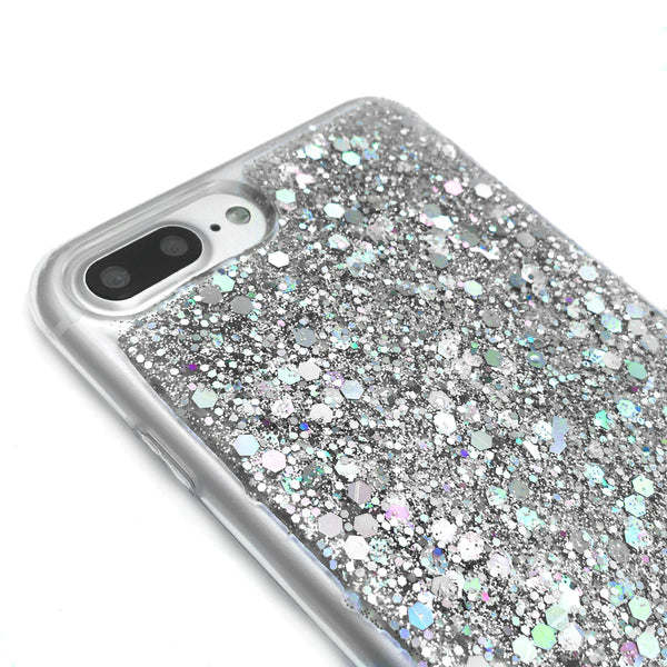 Love the Life You Live - Silver Glitter Phone Case