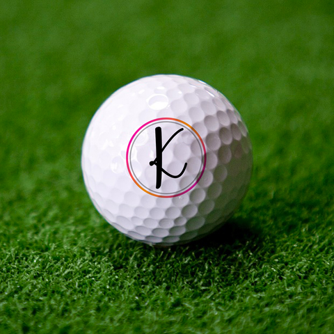 Single Monogram Golf Ball Set