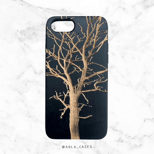 Bare Winter Tree Wood Phone Case