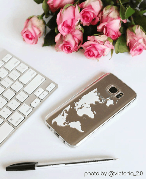 victoria_2.0 world map phone case