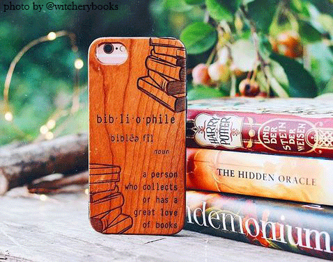 @witcherybooks bibliophile iphone case