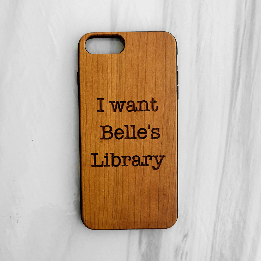 I want belle's Library Wood iPhone and Galaxy Phone Case