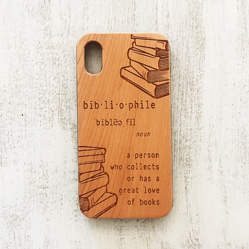 Bibliophile Quote Wood Phone Case