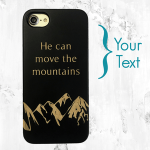 Mountain Range with Quote