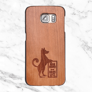 Wag More Bark Less Wood Phone Case