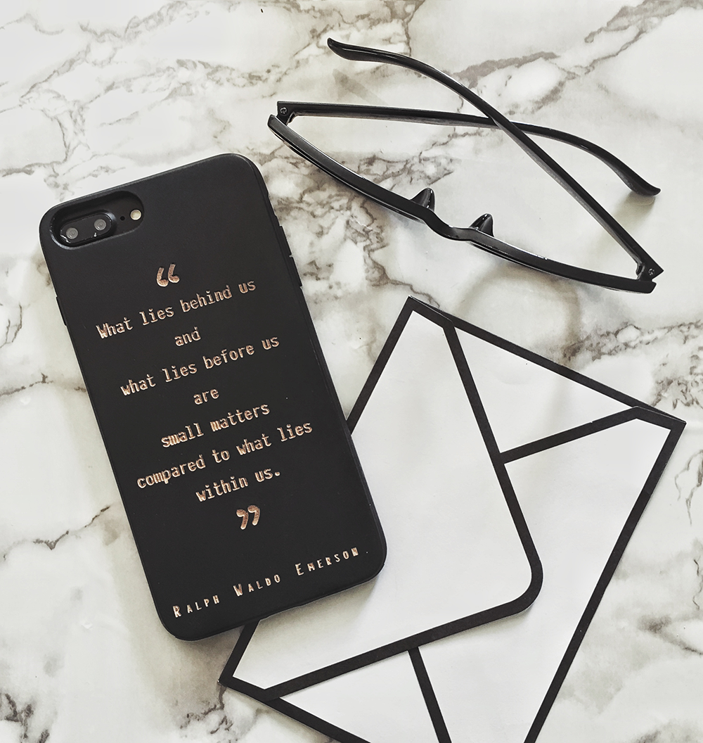 Ralph Waldo Emerson Quote Phone Case - iPhone and Samsung