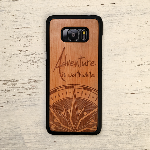 Aristotle Adventure Quote Wood iPhone Case