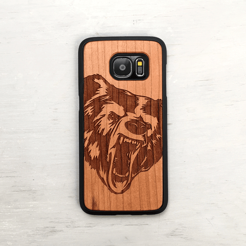 Grizzly Bear Wood iPhone Case