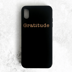 Gratitude Wood Phone Case
