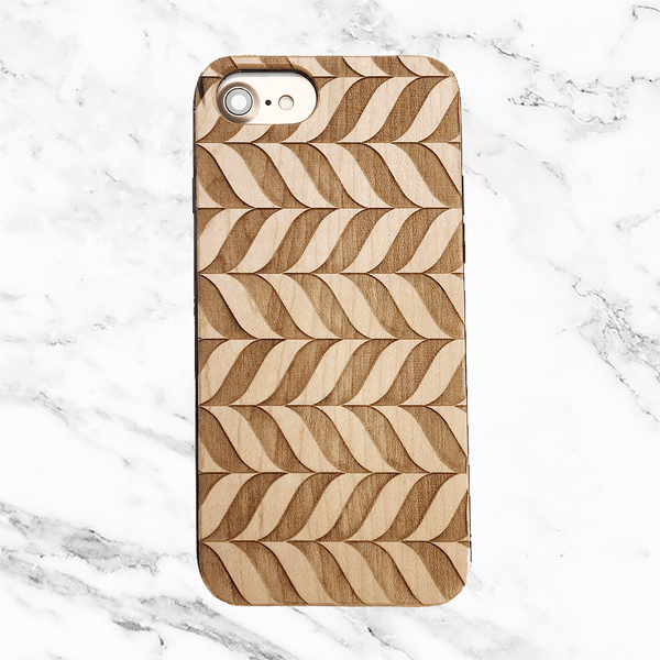 Geometric Chevron Wood Case