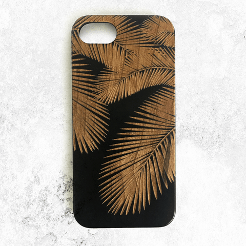 Palm Leaves Wood Phone Case