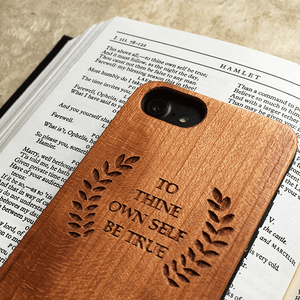 To Thine Own Self Be True Wood Phone Case