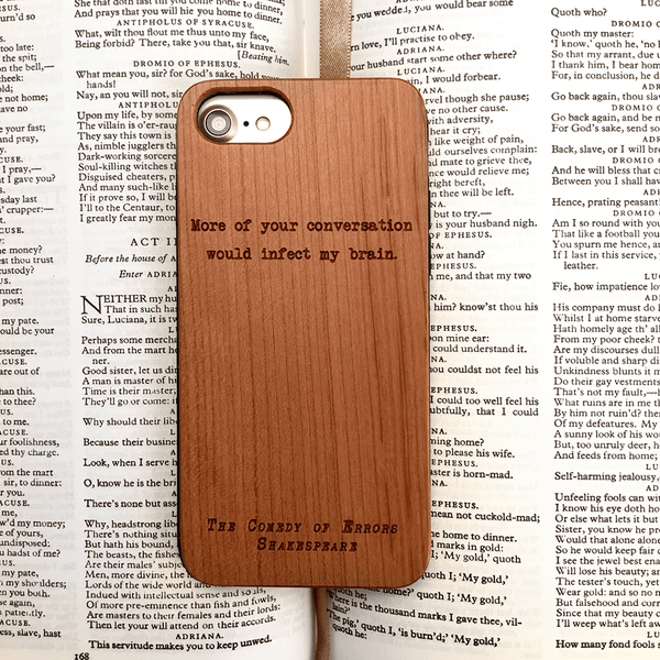 Shakespeare Insult - Wood Phone Case