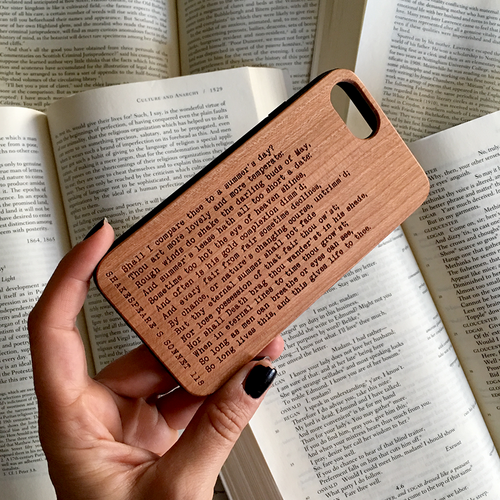 Shakespeare Sonnet 118 Wood iPhone Case