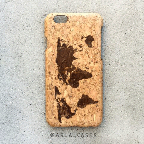 World Map Cork iPhone Case