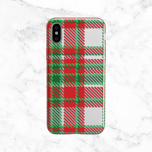 Red and Green Plaid Phone Case