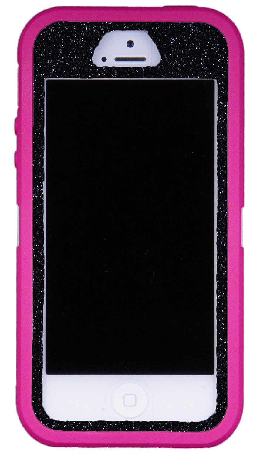 online retailer cba03 1d728 OtterBox Defender Series Case for iPhone 5s - Custom Glitter Case for  iPhone 5s - Pink/Black