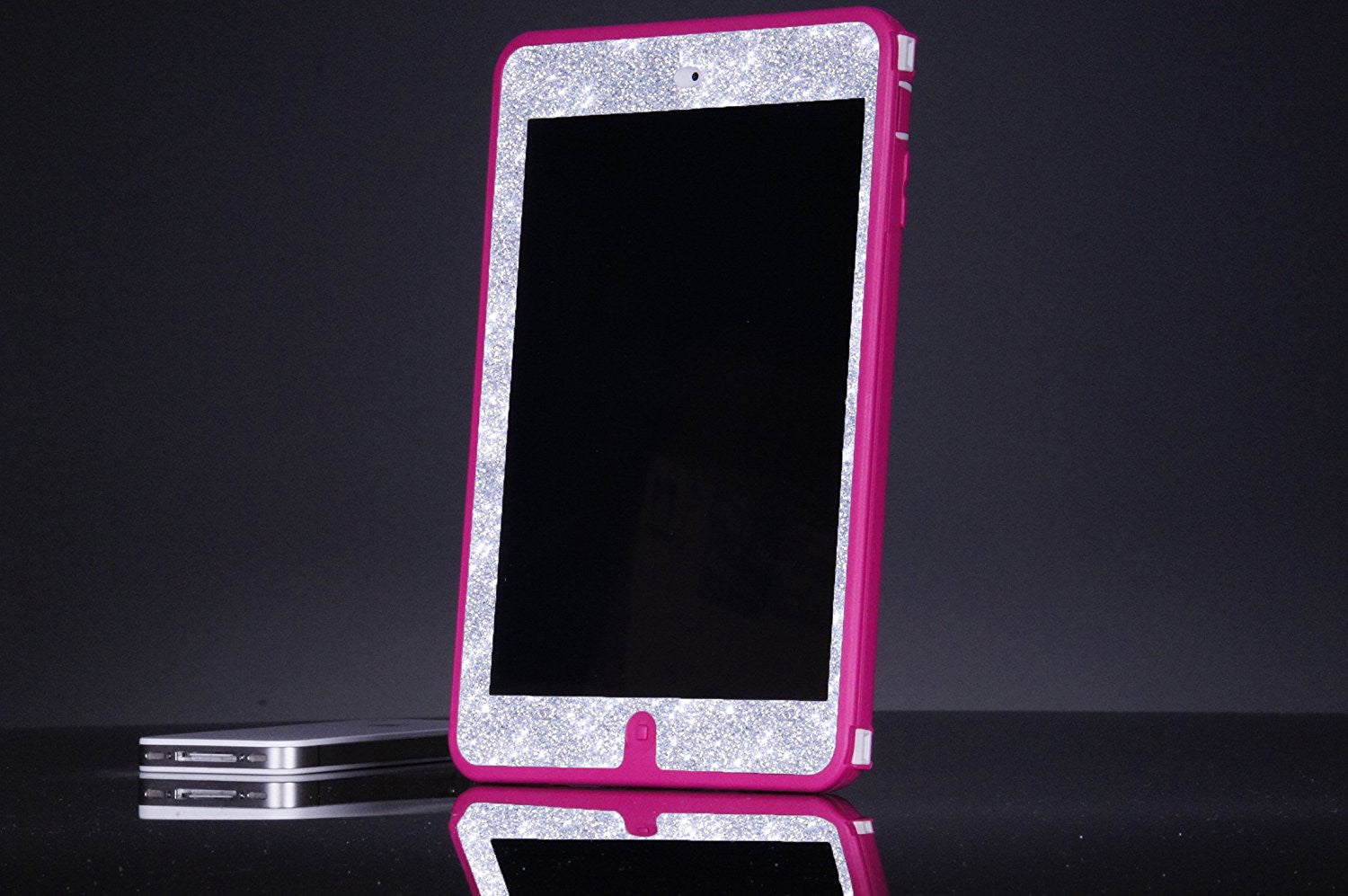 pretty nice 442cc f917b OtterBox Defender Series Case for iPad Mini iPad Mini Retina Display -  Custom Glitter Case for iPad Mini, Retina Display - Pink/Silver
