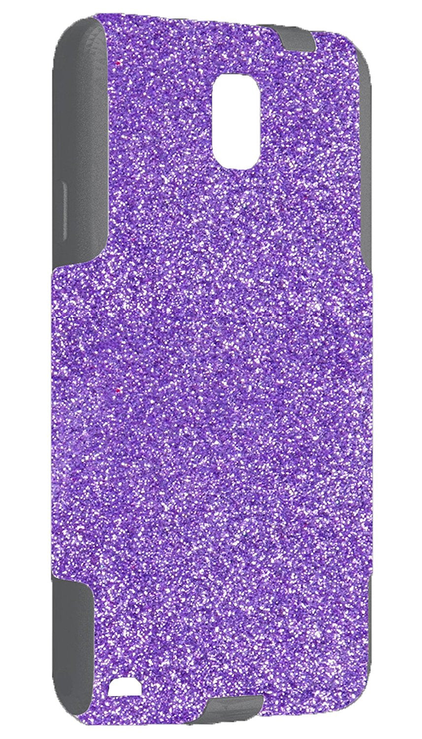 innovative design 6ac6e 2caaf OtterBox Commuter Series Case for Galaxy Note 3 - Custom Glitter Case for  Galaxy Note 3 - Orchid/Grey
