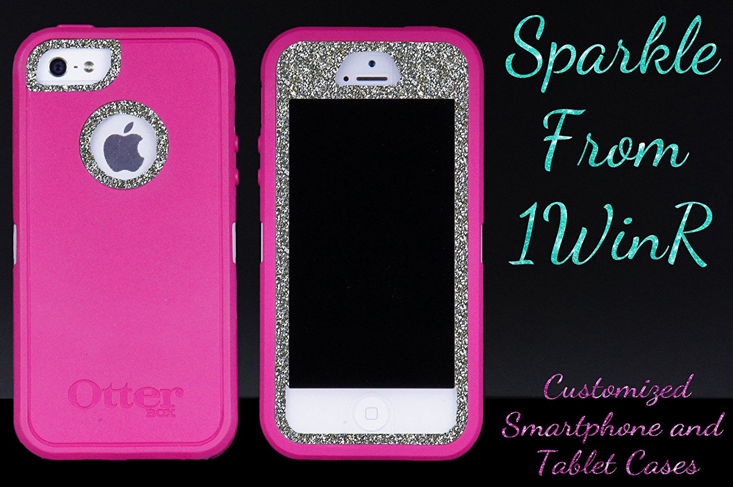 brand new 74e3a 3519f OtterBox Defender Series Glitter Case for iPhone 5s - Pink/White Gold