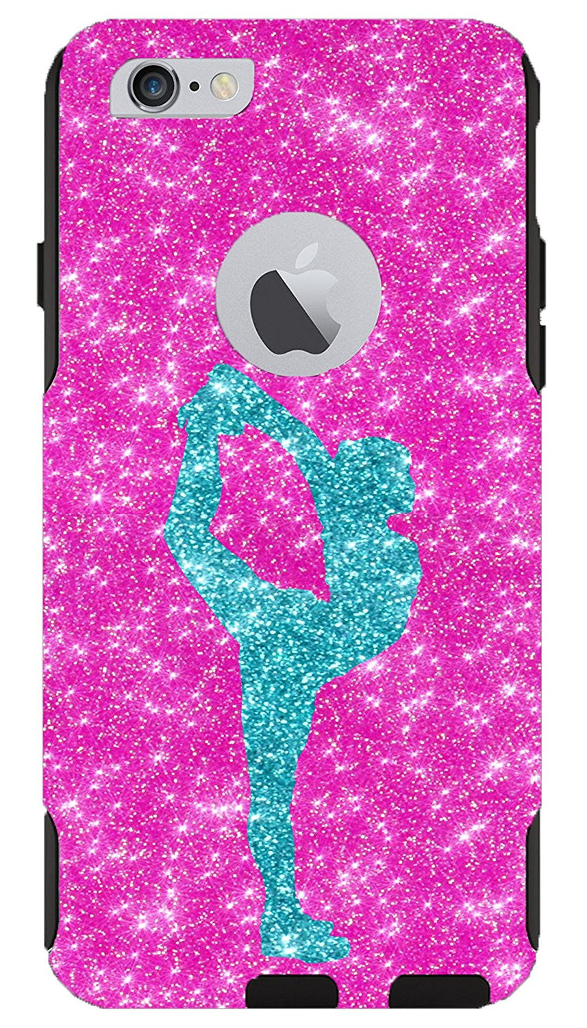 reputable site 9d50d 9a939 iPhone 6 Case - OtterBox Commuter Series - Retail Packaging - 4.7 iPhone 6  Glitter Paradise Cheerleader Scorpion Hot Pink/Black