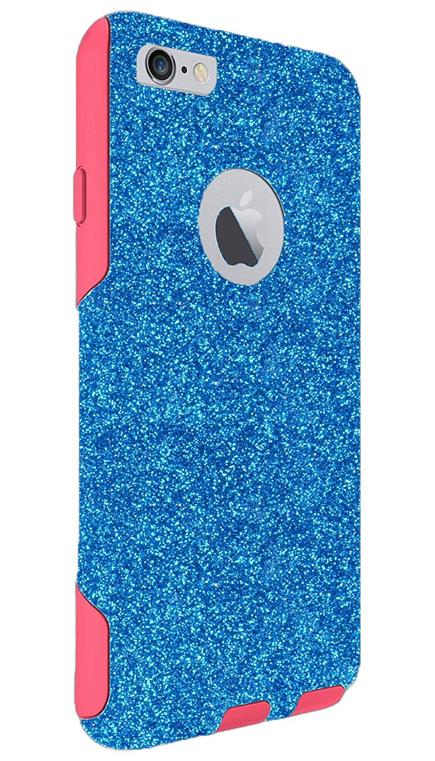 timeless design d0bdd 6d776 OtterBox iPhone 6s Plus Case - OtterBox Commuter Series Custom Glitter Case  for iPhone 6 Plus/6s Plus, Retail Packaging - Peacock/Pink (5.5 inch)