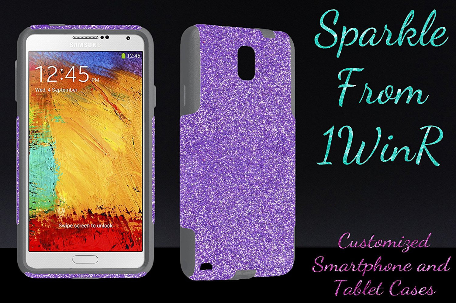 best sneakers bf7e1 ffabd OtterBox Commuter Series Case for Galaxy Note 3 - Custom Glitter Case for  Galaxy Note 3 - Raspberry/Grey