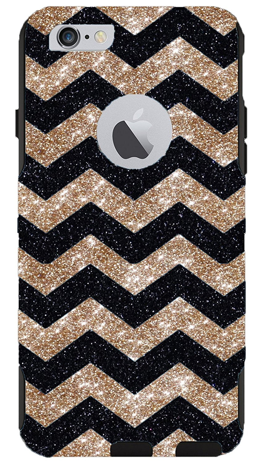 best website e12a9 267e3 OtterBox iPhone 6 Plus Case - OtterBox Commuter Series Custom Glitter Case  for iPhone 6 Plus, Retail Packaging - Gold with Small Chevron