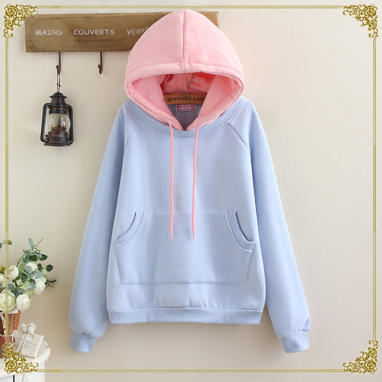 Cute students hoodie fleece pullover SE8953