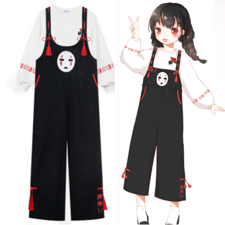 Cute kawaii comic no face male overalls/sweatshirt SE10971