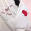 Pink/White Hoodie Pullover SE10532