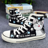 Cat Hand-Painted Shoes SE20024