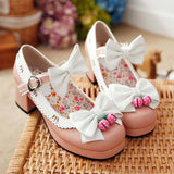 Japanese kawaii lolita bowknot shoes