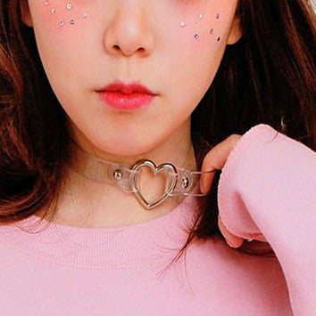 Japanese Harajuku Pu Heart Shaped Necklace Se7156 Sanrense