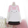 Free Ship Kawaii Rabbit Fleece Sweatshirt SE6605