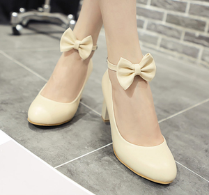 Sweet Bowknot Heels Shoes SE9904
