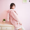 Cute Plush Rabbit Ear Pink Fur Coat SE20146