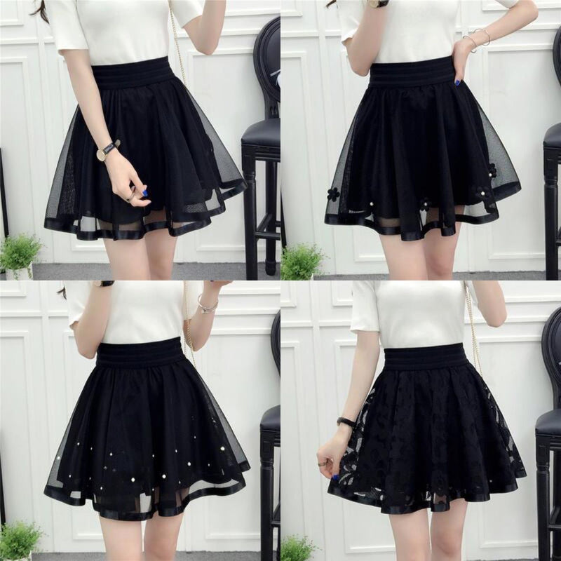 Black Tall Waist Tutu Skirt SE10043
