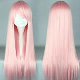 70cm Long Light Pink Beautiful Cosplay Wig SE6470