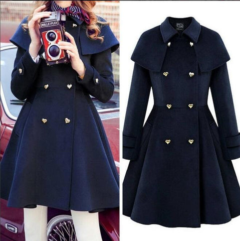 Fashion cape woolen coat SE9328