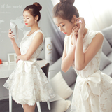 Korea sweet organza dress SE6687