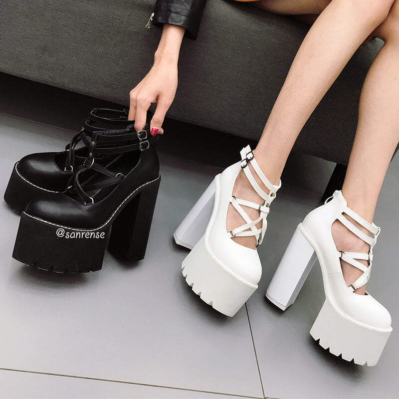 Punk Gothic Platform Shoes SE21076